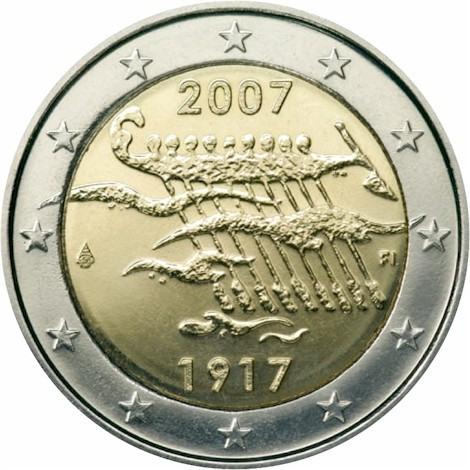 Erikoiseurot - Suomen itsenäisyys 90 vuotta - Suomi - 2007 | Kolikot.com