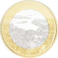 Suomen kansallismaisemat -juhlarahat: Merellinen Helsinki