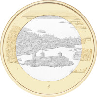 Suomen kansallismaisemat -juhlarahat: Olavinlinna ja Pihlajavesi