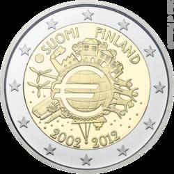 Euron 2€-syntymäpäiväraha | Kolikot.com